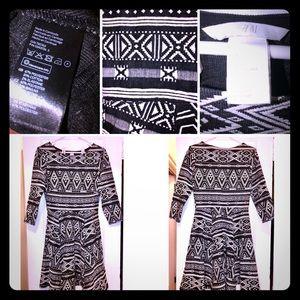 H&M stretchy dress Size S black/white